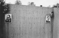 Tomba di Carlo e Nello Rosselli, entrambi uccisi in Francia dai fascisti il 9 giugno 1937 (BN)