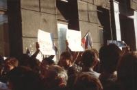 """""""Manifestazione a Mosca contro gli accordi """"""""Molotov-Ribentropp"""""""" organizzata dall'associazione radicale """"""""libertà e pace"""""""". La manifestazione (che no"""