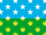 Flag Marijuana USA