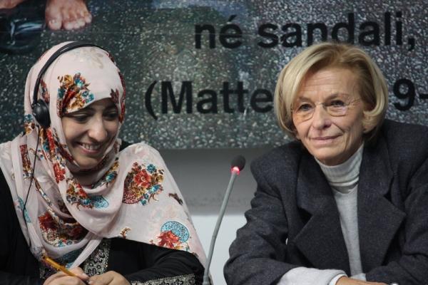 Tawakkol Karman con Emma Bonino
