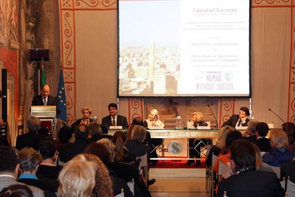 Tawakkol Karman, premio Nobel per la pace 2011 al Senato della Repubblica