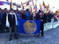 Antenna Radicale di Bruxelles: manifestazione per il Tibet a Bruxelles