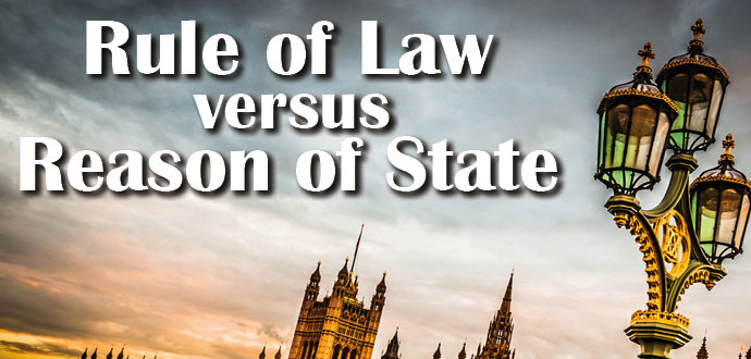 "Presentation of the written proceedings of the Brussels Conference ""Rule of Law vs. Reason of State"""